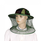 Green Camouflage Pattern Mesh Anti Mosquito Fishing Hat