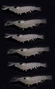 Pack of 6 Glow in the Dark Shrimp. Fluorescent Soft Bait. Killer bait for Night Fishing or Deep Sea!