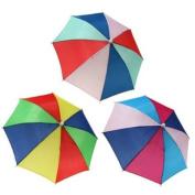 Foldable Rainbow Umbrella Brolly Sun Hat Cap Golf Travel Camping Fishing Hunting