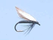 Turrall Black Gnat Wet Winged Trout Fishing Flies Pack of 3