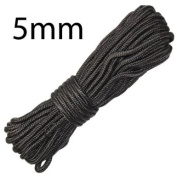 5mm x 15m 50ft Black Utility Purlon Rope Boating Awnings Camping Fishing Cadets