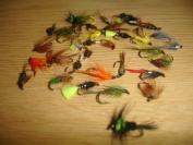 40 x Flextec Assorted Nymph Fly Fishing Flies Selection
