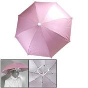 Pink Outdoor Sports Fishing Umbrella Hat Headwear