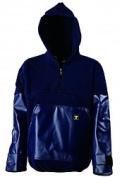 'Kodiak' Fleece Top - PVC Sleeves & Front Pocket - Navy