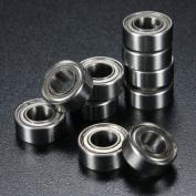 10Pcs 5 x 10 x 4mm Metal Sealed Shielded Deep Groove Ball Bearing MR105ZZ