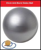 IQI FIT Gym Ball Swiss Ball Exercise Ball 65cm FREE Pump. Anti-Burst