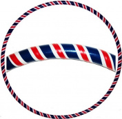 """Hooping4Life Union Jack Medium (40"""") Weighted (625g) Exercise & Dance Hoop with Hooping instrcutions"""