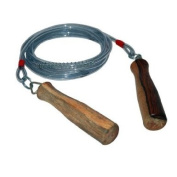Ampro Wooden Handle Wire Speed Rope