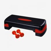 Ultrasport Incl. 2 Vinyl Dumbbells Aerobic Step - Red