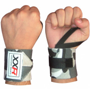 Power Weight Lifting Wrist Wrap Wraps Supports Camo Gym Workout Fist Straps Lifter Exercise Fitness Camouflage