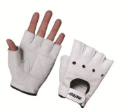 Meteor Gym Gloves White Leather Suede