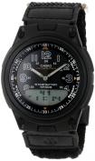 Casio Men's AW80V-1BV Black Nylon Quartz Watch with Black Dial