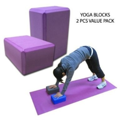 2 PCS Purple Yoga Block Brick Foaming Foam Block Home Exercise Pilates Tool Stretching Aid