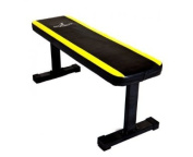 Bruce Lee By Marcy Signature Flat Weight Bench - Black/Yellow, 9 kg