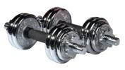 York 15kg Chrome Dumbbell Set and Case