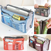 Lady Women Insert Handbag Organiser Purse Large Liner Organiser Storage Bag Tidy Travel