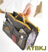 Handbag Organiser Purse Large Organiser Storage Bag In Bag Women Travel Insert  Grey