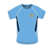 Official MANCHESTER CITY FC home style t-shirt medium size