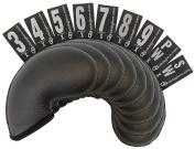 Club Glove 9-Piece Golf Club Cover Set - Regular Size Gloveskin Iron Covers in Black