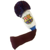 Official FC Barcelona Golf Pompom Headcover (Fairway) - A great gift / present for men, boys, sons, husbands, dads, boyfriends for Christmas, Birthdays, Fathers Day, Valentines Day, Anniversaries or just as a treat for and avid football fa ..