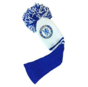 Official Chelsea FC Golf Pompom Headcover (Fairway) - A great gift / present for men, boys, sons, husbands, dads, boyfriends for Christmas, Birthdays, Fathers Day, Valentines Day, Anniversaries or just as a treat for and avid football fan ..