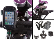 U Bolt Golf Trolley Handlebar Frame Mount with Water Resistant Case for Apple iPhone 4