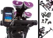 Golf Trolley Handlebar or Frame U Bolt Mount with Water Resistant Soft Case for Samsung Galaxy Gio