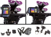 Golf Trolley Handlebar U Bolt Mount with Water Resistant Soft Case for HTC Salsa