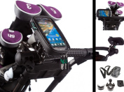 Golf Trolley Frame & Handlebar U Bolt Mount with Water Resistant Case for Sony Xperia Play