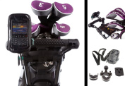 Golf Trolley Handlebar U Bolt Mount with Water Resistant Case for Blackberry Bold