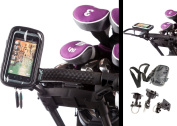 U Bolt Golf Trolley Handlebar Mount with Water Resistant Case for HTC Rhyme