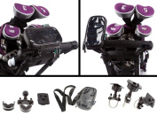 Golf Trolley Handlebar & Frame U Bolt Universal Mount with Water Resistant Case for Small Mobile Phone