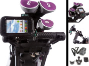 U Bolt Handlebar Golf Trolley Mount with Water Resistant Case for LG Black P970