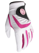 All Weather Golf Glove with Pink Ball Marker and Free Sherpshaw Ball Marker