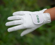 """OBG """"ALL WEATHER"""" WHITE SYNTHETIC BOWLS GLOVE - MENS"""