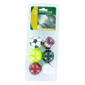 Novelty 'Sports' Golf Balls - Pack 6