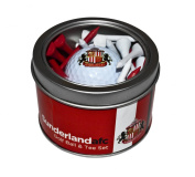 Sunderland Afc Golf Ball & Tee Tin Golf Gift Set - Red/White/Black