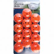 Intech Practise Balls with holes, 12 Pack