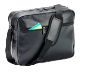 Falcon Sport across body bag - FI4304. Great unisex black sports bag. Ideal for college, school or the gym. Good plain business bag