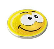 YELLOW SMILEY SMILE GOLF BALL MARKER.