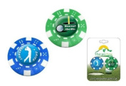 Society Prize / Gift - 2 Poker Chip Golf Ball Marker Nearest Pin / Longest Drive