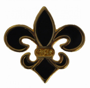 Navika Fleur De Lis Black Glitzy Golf Ball Marker With Hat Clip
