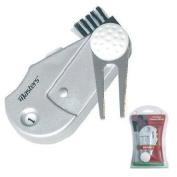 Golf 13cm 1 Divot Tool Cleaning Brush Scorer Ball Marker