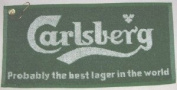 Carlsberg Bar Towel - ideal for snooker, pool or bowls players