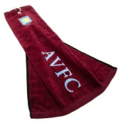 Official Aston Villa FC Golf Tri-Fold Towel - A great gift / present for men, boys, sons, husbands, dads, boyfriends for Christmas, Birthdays, Fathers Day, Valentines Day, Anniversaries or just as a treat for and avid football fan