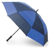 Fulton Stormshield Double Canopy Golf Umbrella - Black and Navy
