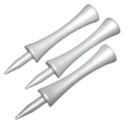 Silver castle golf tees (70) - The LARGE ones