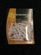 The Golfers Club Graduated Castle Golf Tees White - Step 30mm