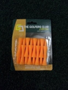 The Golfers Club Graduated Castle Golf Tees Orange - Step 50mm