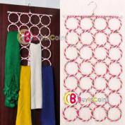 28-hole Ring Rope Slots Holder Hook Scarf Wraps Shawl Storage Hanger Organiser [30458|01|01]